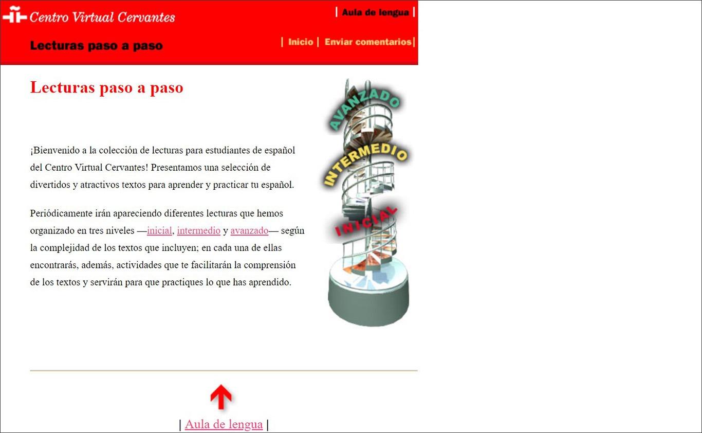 Сайт для вивчення іспанської онлайн Centro Instituto Cervantes