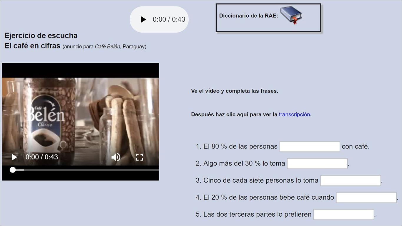 Ресурс із вправами для самостійного вивчення іспанської Ver-Taal