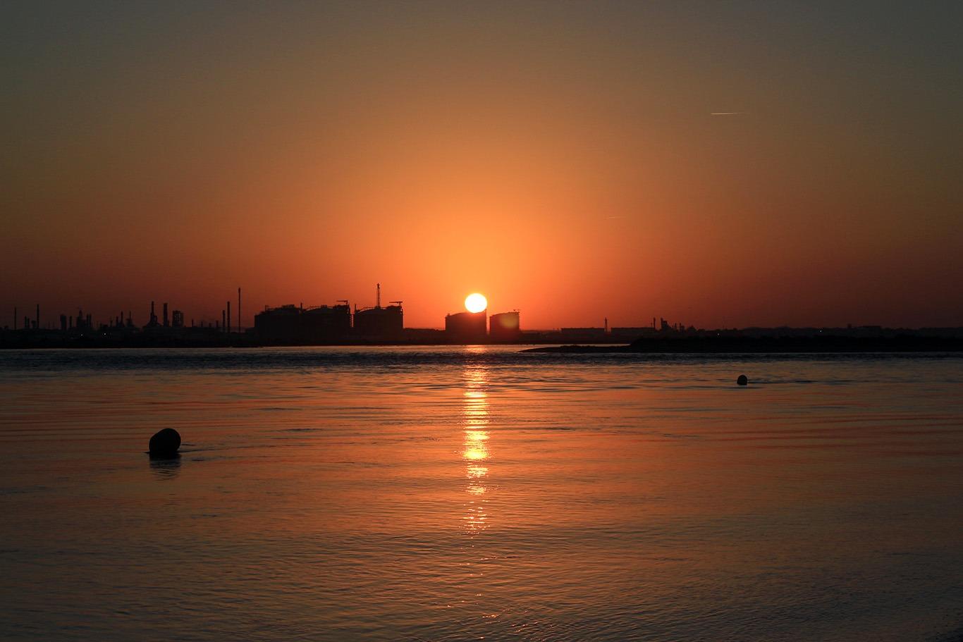 Захід сонця у Пунта Умбріа (Іспанія). Зображення до статті