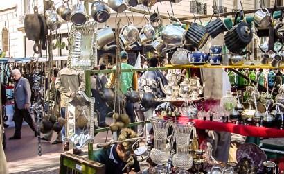 Artigos vendidos na feira de San Telmo