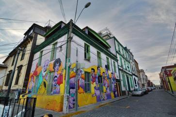 Arte de rua em Valparaiso