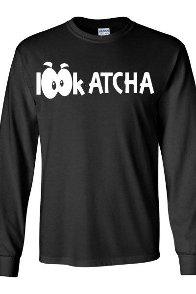 Long Sleeve Black Lookatcha Tee