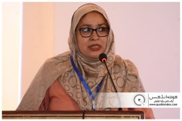 QUETTA-PAKISTAN, March 26, 2019: Trainer of the program Ms. Muneera Muhammad addressing to closing ceremony of Capacity Development and Technical Support to Balochistan Assessment and Examination Commission. Organized by Agha Khan University Examination Board in collaboration with Government of Balochistan, UNICEF and European Union