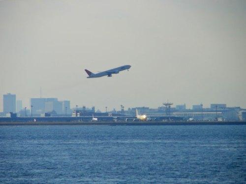 Avión despegando del Aeropuerto de Haneda
