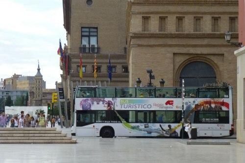 Autobús turístico de Zaragoza, cómo moverse por Zaragoza