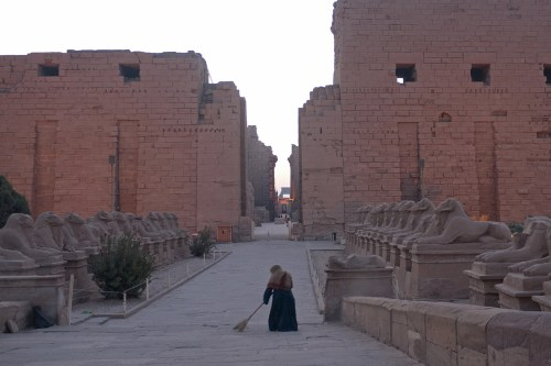 Avenida de las Esfinges, principal acceso al Templo de Karnak
