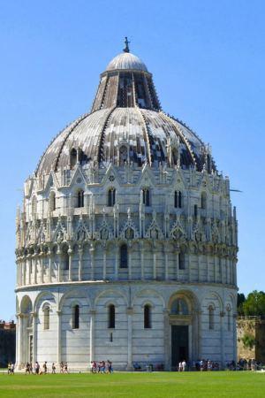 Baptisterio de Pisa, el más grande de Italia