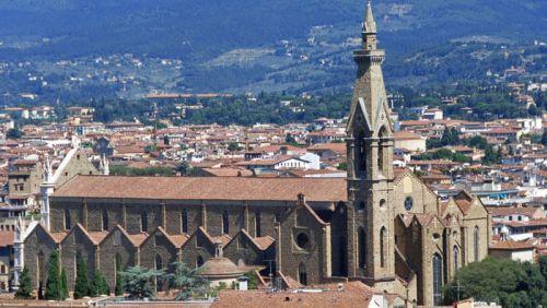 Basílica de Santa Croce en Florencia, la más grande del mundo construida por los franciscanos, iglesias de Florencia