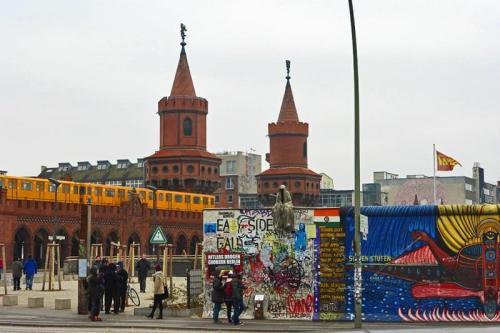 Tramo del Muro de Berlín reconvertido en la East Side Gallery