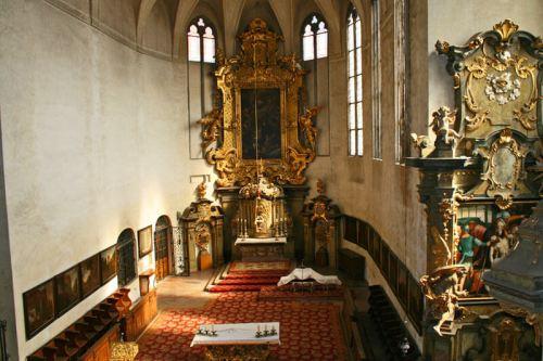 Capilla del Todos los Santos en el antiguo Palacio Real de Praga