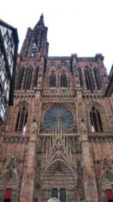 Fachada principal de la Catedral de Estrasburgo