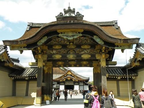 Puerta de entrada al Castillo Nijo de Kioto