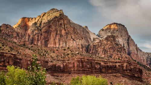 Formaciones geológicas en el Parque Nacional Zion