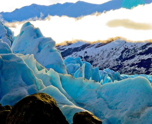 Hielo del glaciar Perito Moreno