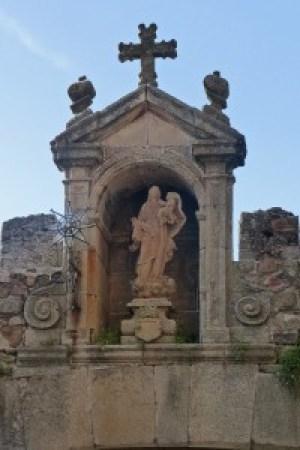 Hornacina del Arco de la Estrella de la Muralla de Cáceres