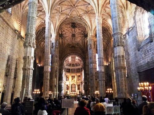 Interior Iglesia de Santa María de Belém en el Monasterio de los Jerónimos
