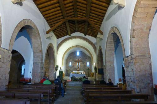 Interior de la Iglesia de Santa María la Real en O Cebreiro