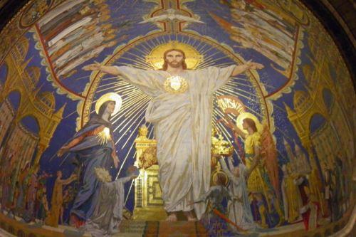 Mosaico en el interior de la Basílica del Sagrado Corazón de París