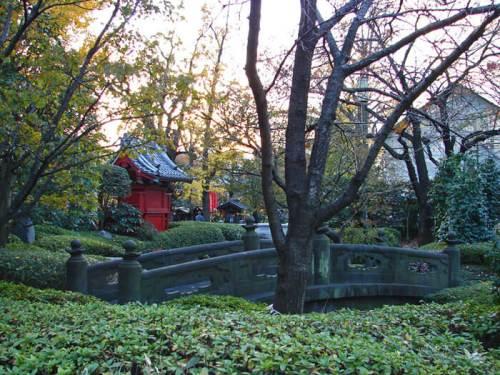 Jardines del templo Sensoji en Asakusa