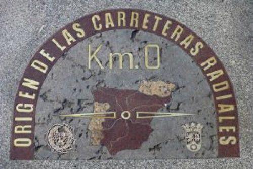Kilómetro Cero de las carreteras radiales de España en la Puerta del Sol de Madrid