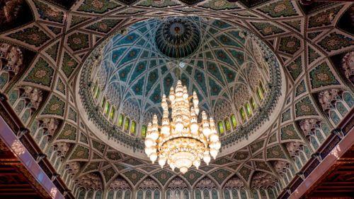 Lámpara de Swarovski de la Gran Mezquita del Sultán Qaboos