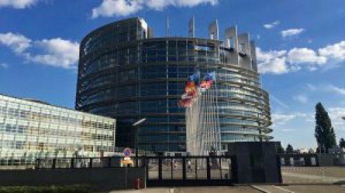 Parlamento Europeo con sede en Estrasburgo