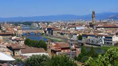 Vista diurna de Florencia desde la Plaza Michelangelo