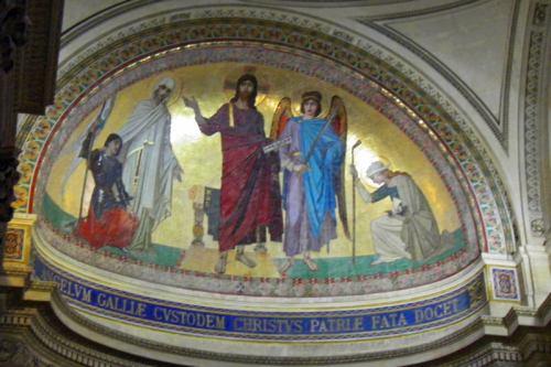 Frescos decorando el interior del Panteón de París