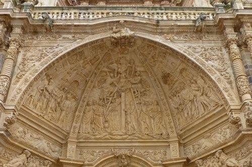 Detalle de la portada principal de la Catedral de Astorga