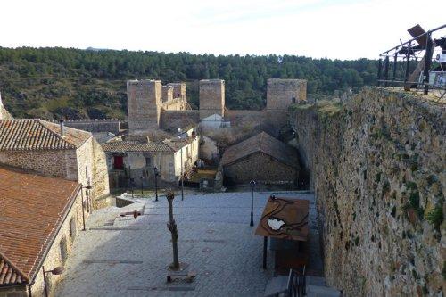 Vistas de Buitrago del Lozoya desde lo alto de la muralla