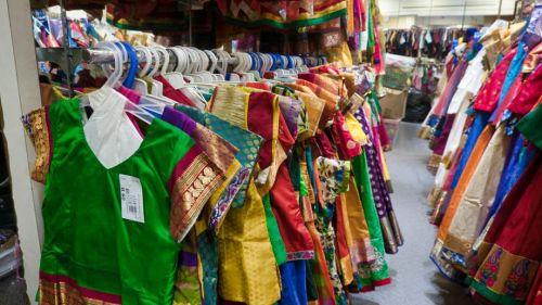 Tienda de ropa tradicional en Little India