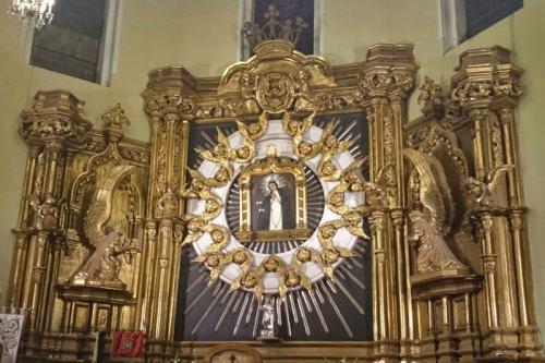 Imagen de la Virgen de la Paloma, la patrona popular de los madrileños
