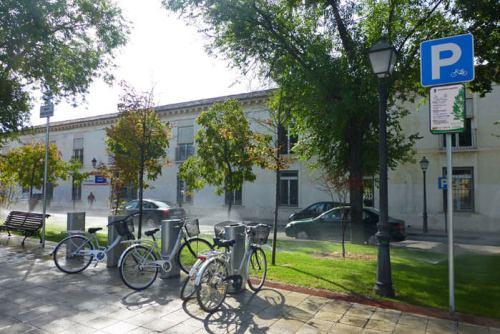 Zona de recogida de bicicletas de alquiler público de Aranjuez