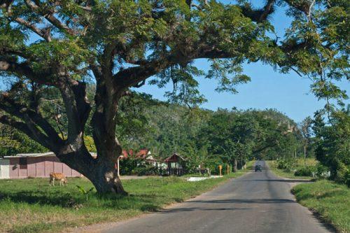 Carretera de camino al Valle de Viñales en Cuba