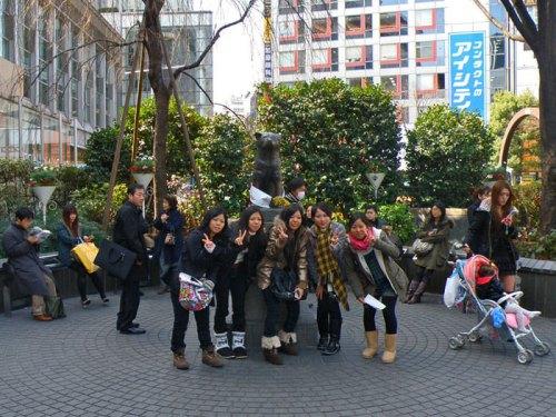 Estatua de Hachiko, un símbolo de Shibuya