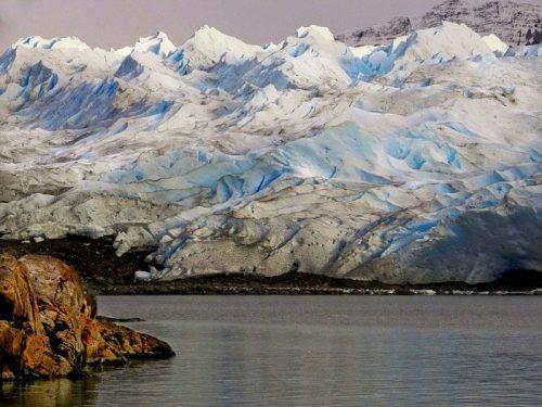 Campo de hielo patagónico del Parque Nacional Los Glaciares en Argentina