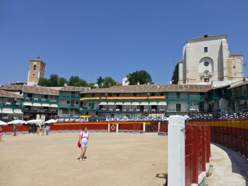 Plaza Mayor de Chinchón convertida en coso taurino