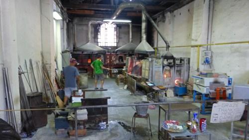 Taller artesanal de vidrio soplado de Murano