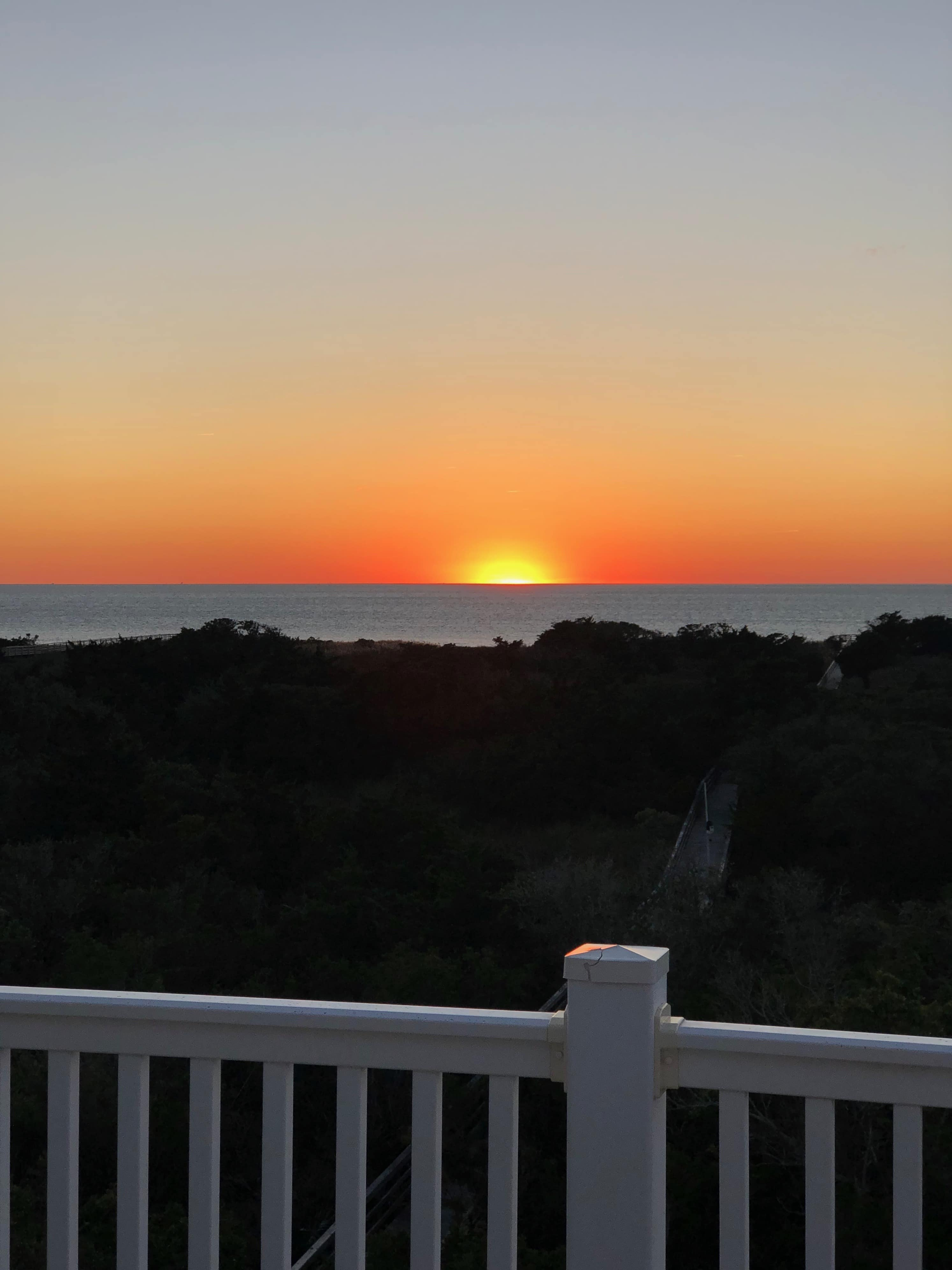 sunset on the sound in Outer Banks, NC
