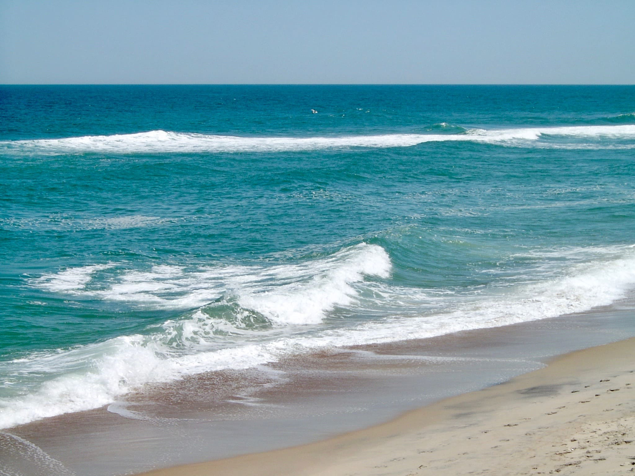 blue ocean at Outer Banks, NC