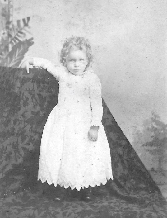 old photo of Granny Tag when she was a little girl