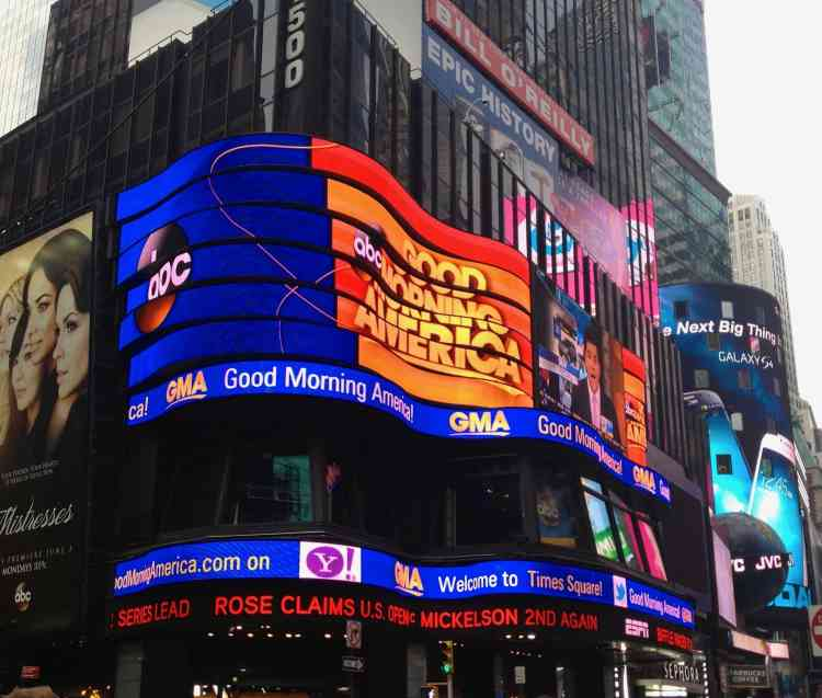 Good Morning America in Times Square