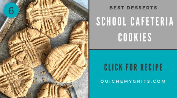 best ever desserts peanut butter school cafeteria cookies on a sheet pan