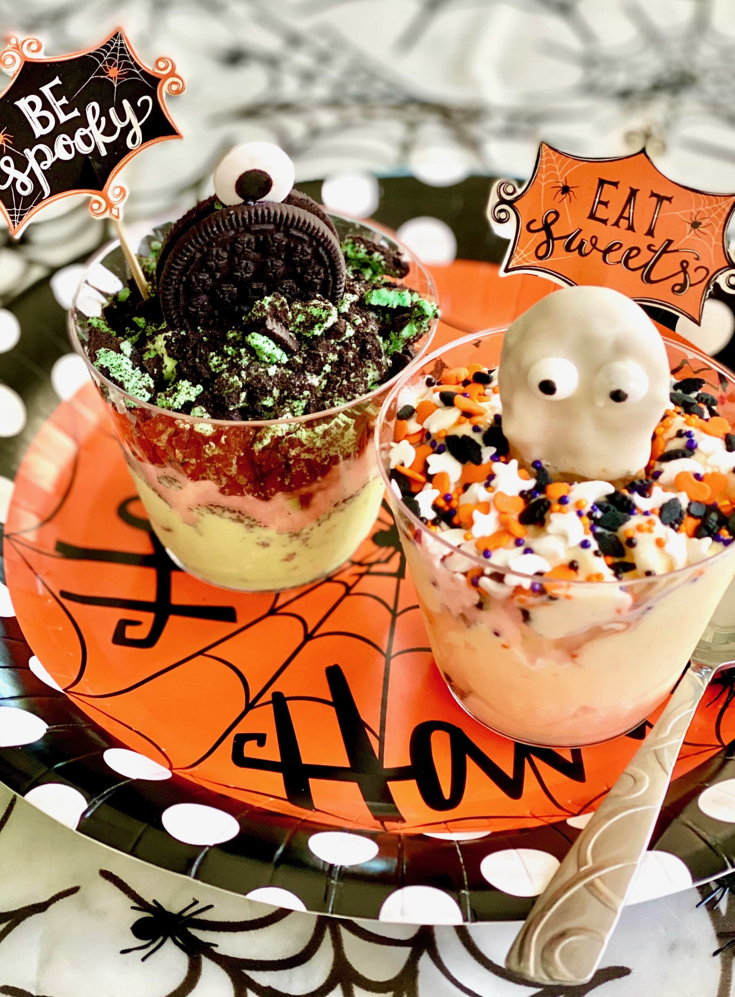 halloween ice cream cup critters