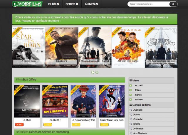 VoirFilms une autre alternative pour regarder un film en streaming.