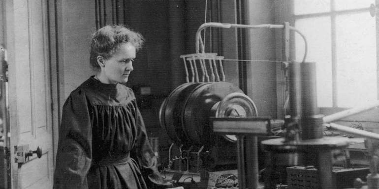 Madam Curie radioactive waves