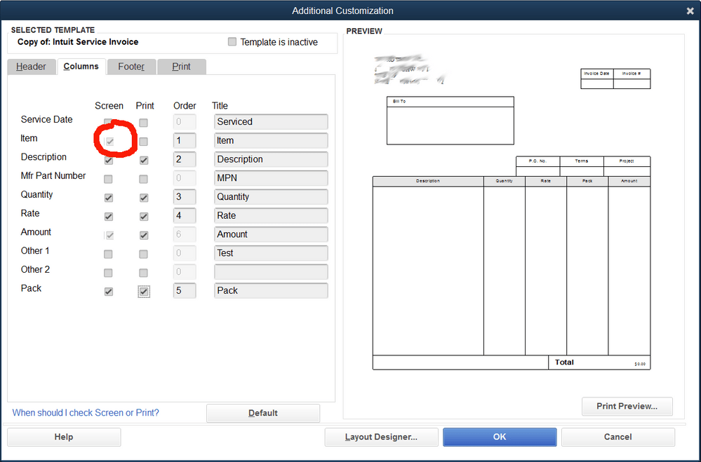 Solved Item Name Code Not Showing In Invoice Template