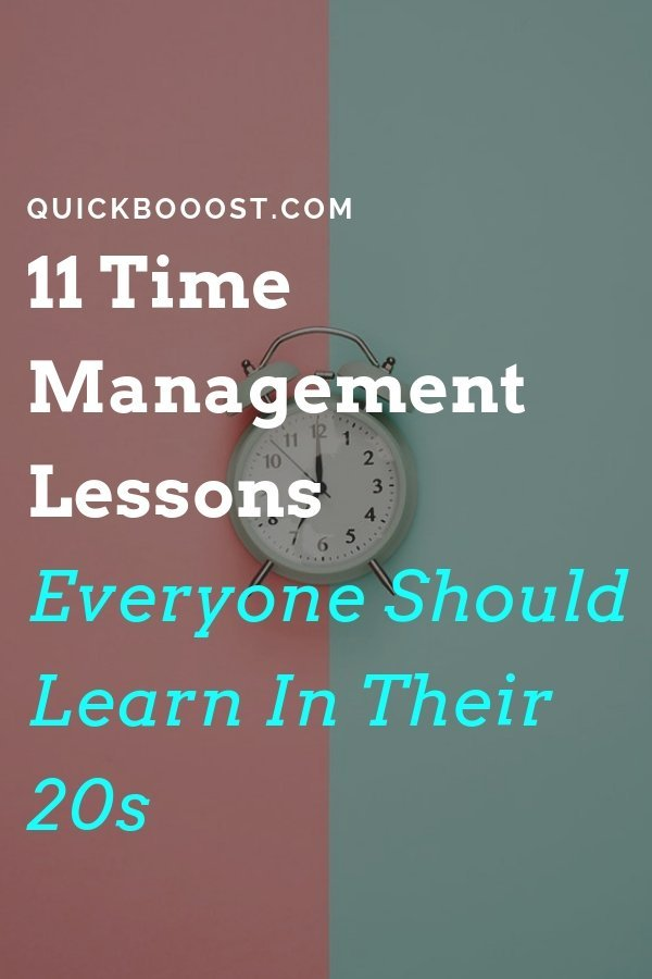 Become a time management pro and get more done! Follow these 11 time management lessons, tips, tactics, and hacks that everyone should learn in their twenties.