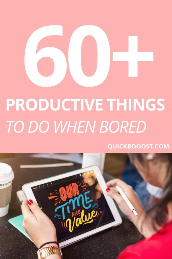 Looking for productive things to do when bored? This is the place to be! Follow these tips, tactics, and ideas to end your boredom, get stuff done, and have a productive day!