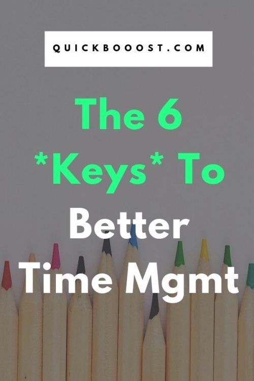 How to manage time - a question that many of us struggle with. But look no further! Use these 6 keys to your advantage to boost your time management efforts and get more done.